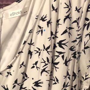 Bird Print Midi Dress